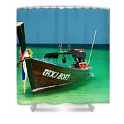 Taxi Boat Shower Curtain