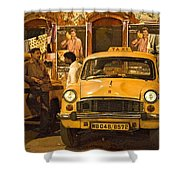 Taxi Talk Shower Curtain