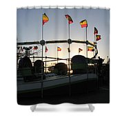 Tea Cups At Sunset Shower Curtain
