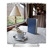 Tea Is Served By Peru Rail On The Way Shower Curtain