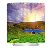 Tea Plantation Shower Curtain
