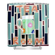 Tea Room Shower Curtain