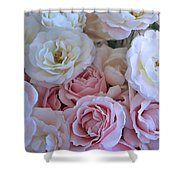 Tea Time Roses Shower Curtain