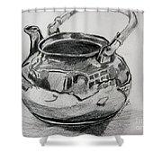 Teapot Reflections Shower Curtain