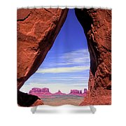 Teardrop Arch Monument Valley Shower Curtain