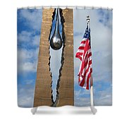Teardrop Memorial Shower Curtain