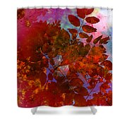 Tears Of Leaf  Shower Curtain by Empty Wall