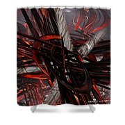 Technic Abstract Fx  Shower Curtain
