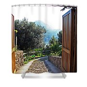 Technicolor World Shower Curtain