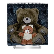 Teddy Elder Care Bear Shower Curtain