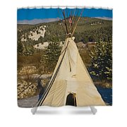 Teepee In The Snow 2 Shower Curtain