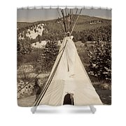 Teepee In The Snow Shower Curtain
