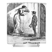 Telegram: Death, 1879 Shower Curtain