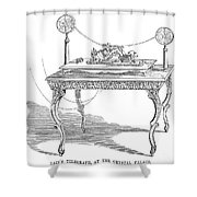 Telegraph, 1854 Shower Curtain
