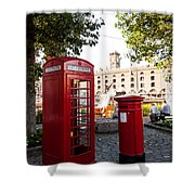 Telephone And Mail Box Shower Curtain
