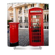Telephone And Post Box Shower Curtain