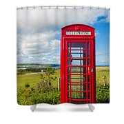 Telephone Anyone Shower Curtain