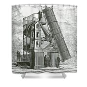 Telescope At The Paris Obervatory Shower Curtain