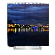 Tempe Arts Center At Sunset  Shower Curtain