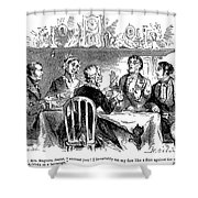 Temperance Movement, 1856 Shower Curtain