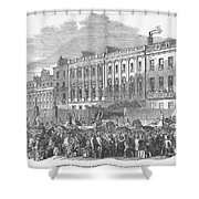 Temperance Rally, 1853 Shower Curtain