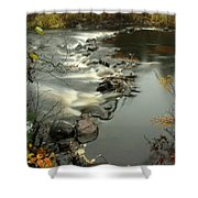 Temperance River Campground View Shower Curtain