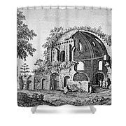Tempio Di Minerva Medica In Roma, 18th Shower Curtain by Photo Researchers