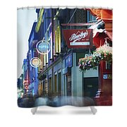 Temple Bar, Dublin, Co Dublin, Ireland Shower Curtain