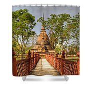 Temple Bridge Shower Curtain