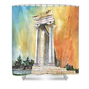 Temple Of Apollo In Kourion Shower Curtain