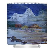 Temple Of The Snows Shower Curtain