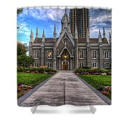 Temple Square Assembly Hall Shower Curtain