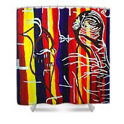 Temptation Of Jesus Shower Curtain