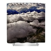 Ten Thousand Feet Over Denali Shower Curtain