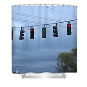 Ten Traffic Lights  Shower Curtain