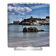 Tenby Harbour 1 Shower Curtain
