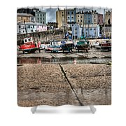 Tenby Harbour 2 Shower Curtain