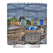 Tenby Harbour In Summer 2 Shower Curtain