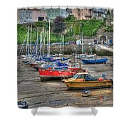 Tenby Harbour In Summer 3 Shower Curtain