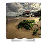 Tenby Lifeboat Ramps Shower Curtain