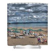 Tenby North Beach 3 Shower Curtain