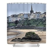 Tenby Over North Beach Shower Curtain