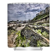 Tenby Rocks 4 Shower Curtain
