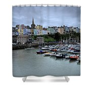 Tenby Town Across The Harbour Shower Curtain