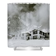Tengboche Monastery In The Himalaya Shower Curtain