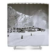 Tengboche Monastery In The Himalayas Shower Curtain