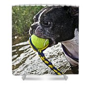 Tennis Ball Mist Shower Curtain