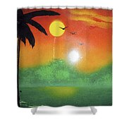Tequila Sunrise Shower Curtain
