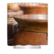 Terracotta Mexican Pottery Shower Curtain