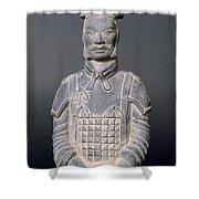 Terracotta Warrior Soldier Shower Curtain